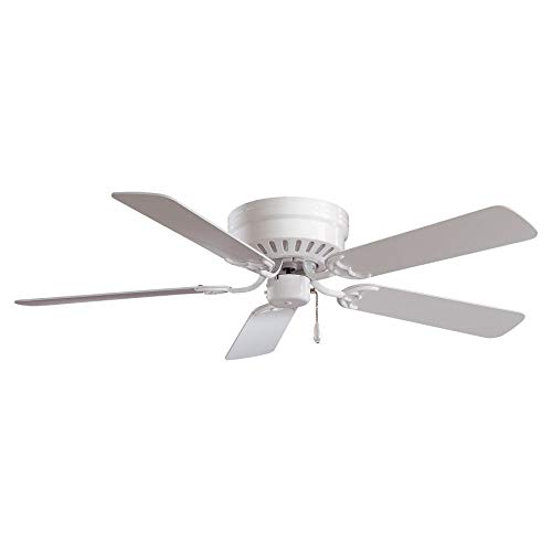 Minka-Aire F565-WH Mesa 52 Inch Flush Mount Low Profile Ceiling Fan in White Finish