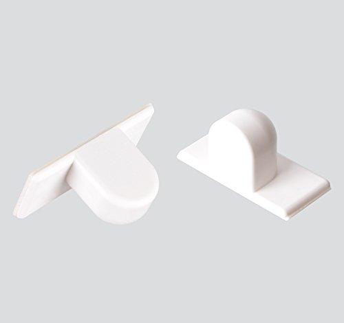 2 Stück Magnethalter ~ selbstklebend ~ hohe Magnetkraft ~ für Jalousien, Plissees und Rollos mit magnetischer Unterschiene