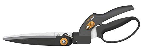 Fiskars Rasenkantenschere GS40, Einstellbarer Schneidewinkel (180°), Länge: 35,5 cm, Stahl/Kunststoff, Schwarz/Orange, SmartFit, 1023632