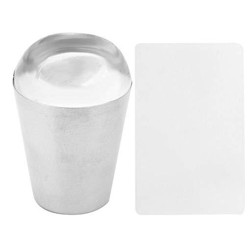 Dgtrhted Kit Stamping Nail Art,Nail Stamper grattoir Souple en Silicone Transparent Stamper DIY Nail Art Stamping Tool Kit (N5322)