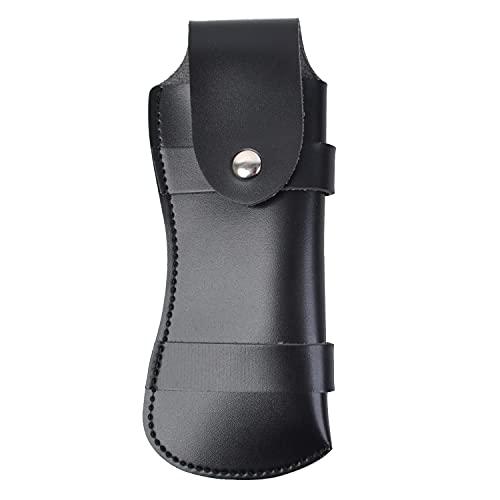 ABEL Messer-Etui Leder Schwarz für Klappmesser Taschenmesser mit Gürtelschlaufe