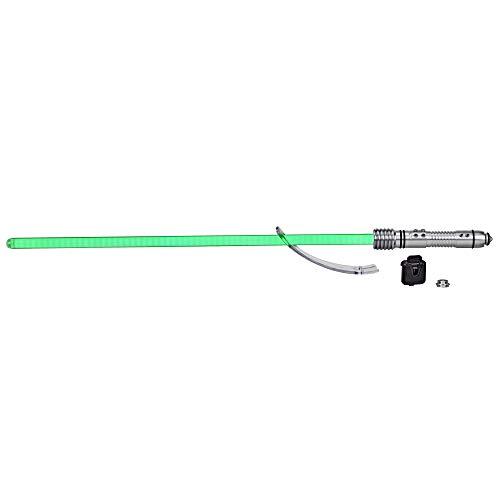Hasbro Star Wars The Black Series Kit Fisto Force FX Spada laser con LED ed effetti sonori, articolo da collezione Roleplay con lama rimovibile, Colore, E9703