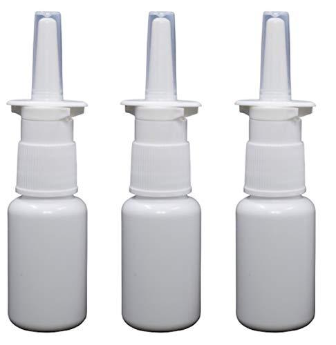 Pharma-Quality Empty Nasal Pump Sprayers, 20ml (2/3rds oz) 3-Pack