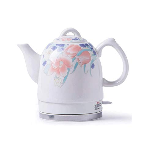Z-Color Ceramic Electric Kettle Cordless Water Tea, 1.5L Tea-Retro Jug, 1350W Water Fast for Tea, Coffee, Soup, Removable Base, Automatic Power Off,Boil Dry Protection