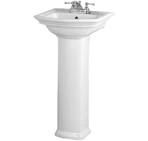 Barclay 3-384WH Washington 460 Pedestal Lavatory in White