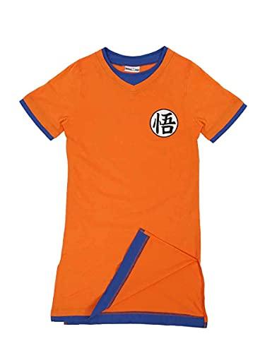 Camisón Manga Larga para Mujer en diseño de Son Goku   Talla: S