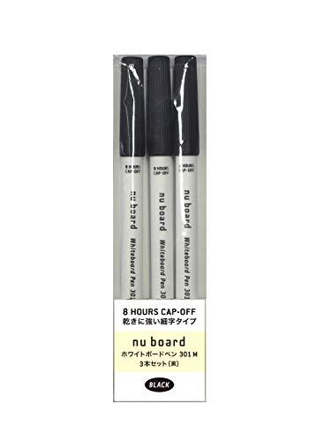 nu board ホワイトボードペン301 M 3本セット(黒) B301M0BL03