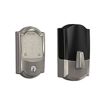 Schlage BE489WB CAM 619 Encode Deadbolt Smart Lock   WiFi Touchscreen Keypad Satin Nickel