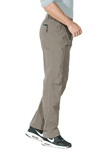 Unitop Herren Outdoor-Hose, leicht, atmungsaktiv, schnell trocknend, Khaki-25, 76-78 cm Taille/76 cm Schrittlänge