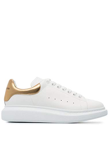 Alexander McQueen Luxury Fashion Damen 553680WHNBG9075 Weiss Leder Sneakers | Jahreszeit Permanent