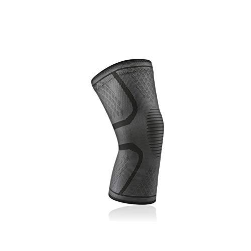 WEARRR 1 stück elastische Knie Pads Nylon Sport Fitness Kneepad Fitness zahnrad Patella Strake Laufen Basketball Volleyball unterstützung (Color : 1 Piece Gray, Size : Medium)