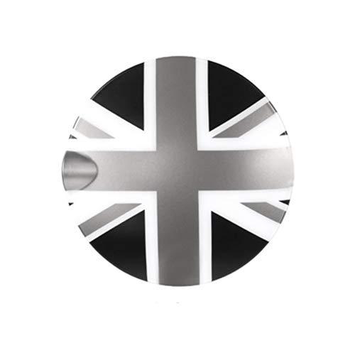 Heinmo Adhesivo decorativo para tapa de depósito de combustible Clubman modificado para Mini Cooper R55 R56 (conector gris de la Unión Jack)