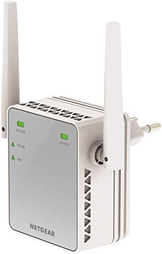 NETGEAR WLAN Repeater EX2700 WLAN Verstärker, N300 WiFi, Abdeckung 1 bis 2 Räume & 10 Geräte, Geschwindigkeit bis zu 300 MBit/s, kompaktes Design
