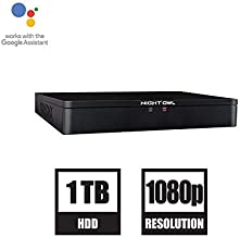 Night Owl 8-Channel 1080p HD DVR with 1 TB Hard Drive Compatible with Spotlight Cameras CAM-2PK-C20XL (DVR-C20X-81)
