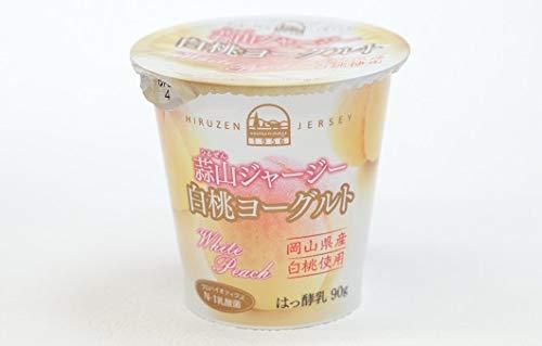 蒜山(ひるぜん)酪農 蒜山ジャージー白桃ヨーグルト 100mlx2 冷蔵
