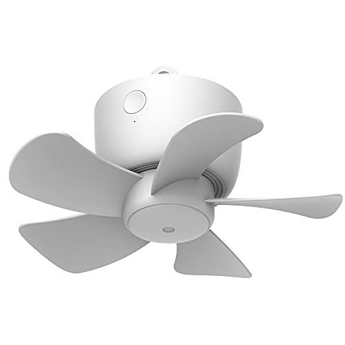 VVU&CCO Rechargeable Ceiling Fan For Tent, 8000mAh Battery Powered USB Remote Control Timing 4 Speed Gazebo Outdoor Camping Fan