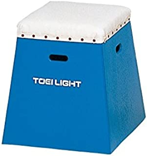 TOEI LIGHT(トーエイライト) 入門用跳び箱50 青 下部45cm(上部36cm角)×高さ50cm 一体式 保育・幼児・小学校低学年向 T2267B T2267B