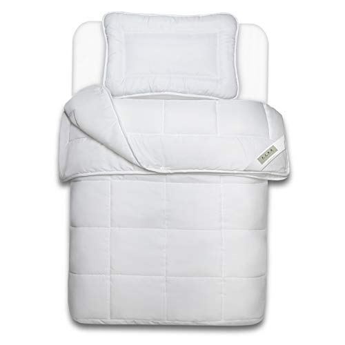 Julido Kinderbett 4-Jahreszeiten Kinderbetten-Set Decke 100x135 Kissen 40x60 cm Öko-Tex Standard 100