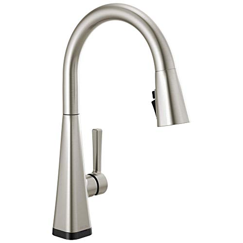 DELTA Lenta Single-Handle Touch Kitchen Sink Faucet with Pull Down Sprayer, Touch2O and ShieldSpray Technology, Magnetic Docking Spray Head, SpotShield Stainless 19802TZ-SP-DST