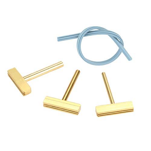 3pcs/set 30W/40W/60W T puntas de soldador T, punta de soldador T, latón, silicona, con prensa en caliente, para reparación de cables flexibles de pantalla LCD, reparación de cables blandos