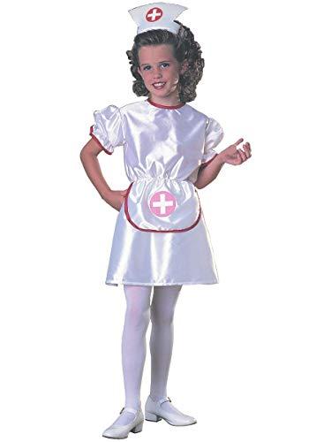 Disfraz de Médico Enfermera para niña, infantil 3-4 años (Rubie's 881925-S)