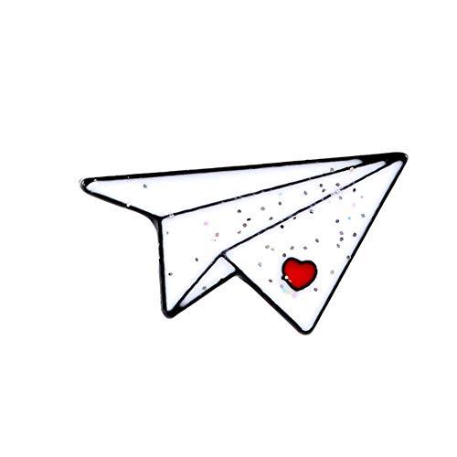 KingbeefLIU Unisex Origami Avión Barco Esmalte Broche Pin Chaqueta Bolsa Insignia Regalo Elegante Broche Vintage Regalo De Joyería XZ2461