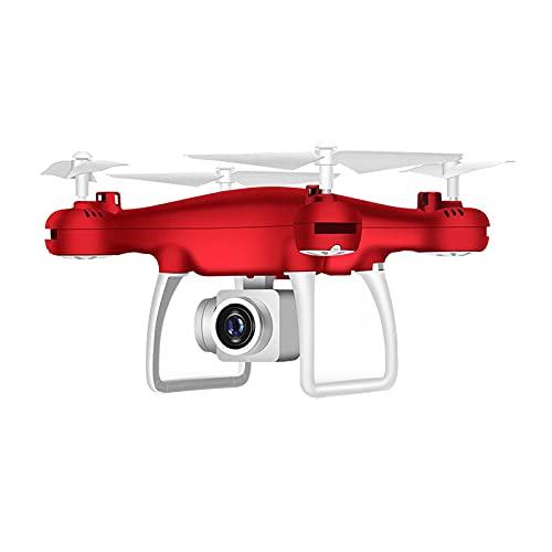 F Fityle HD 720p Camera Selfie WiFi RC Quadcopter Drone Toy, per Adulti E Bambini, Intelligente E Divertente - Rosso Nessuna Fotocamera