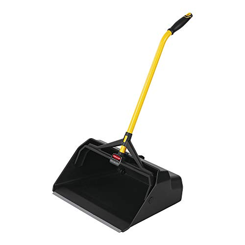 Rubbermaid Commercial Maximizer Heavy Duty Stand Up Debris/Dust Pan, Black (2018781)