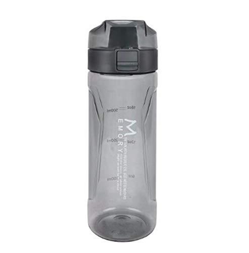 Caomei waterfles, 700 ml, hoogwaardig, kunststof, zwart, school, waterdicht, creatief, waterfles, kunststof, sap, groenten, bedrijf