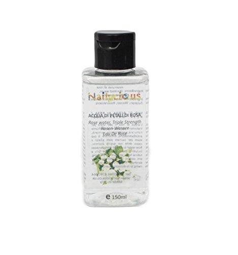100% puro de agua de rosas 150 ml - sin alcohol y en calidad alimentaria - Limpiador facial natural, florido, crema hidratante, tóner facial y maquillaje