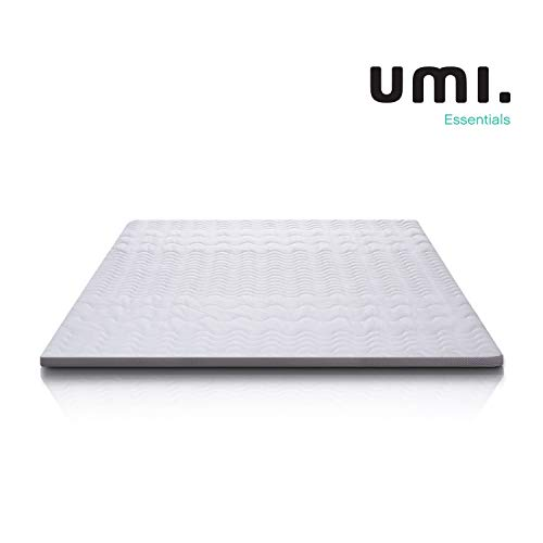 Umi. Essentials Memory Foam Mattress Topper with 7 Zone Support, Certipur 180 by 200 by 6 cm