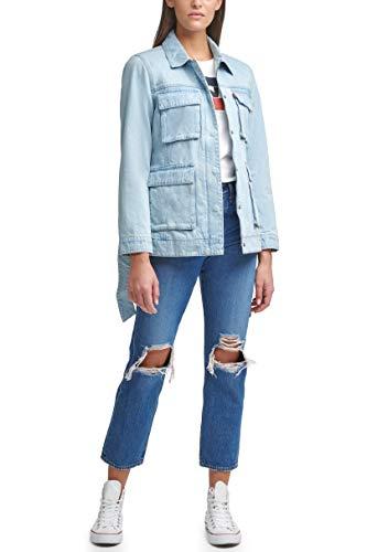 Levi's Women's Plus Size Midweight Cotton Belted Shirt Jacket, Light Wash Denim, 3X