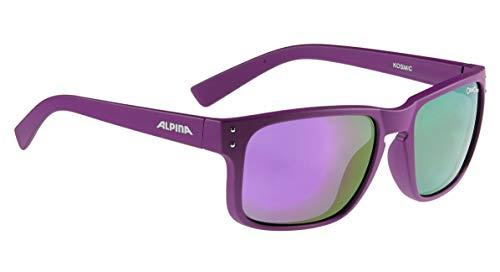 ALPINA KOSMIC Sportbrille, Unisex– Erwachsene, purple, one size
