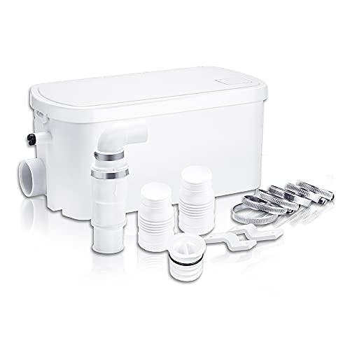 Sanitary Shower Macerator Pump 2 Inlets Silent Waste Pump for Shower, Sink, Bath