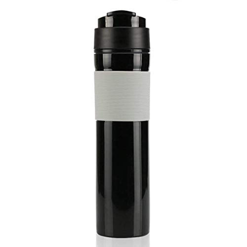 CFSAFAA Kaffeemaschine BLICT Mini Kaffeemaschine Manuelle Kaffeemaschine Tragbare Druck Espresso Kaffeemaschine Handheld Espresso Maker für Heimreisende (Farbe: schwarz) Traditionelle Kaffeemaschine