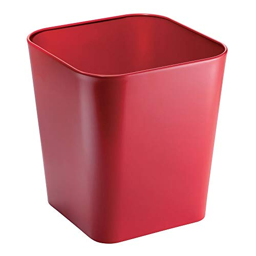 mDesign Gia Basurero, Rojo, 1
