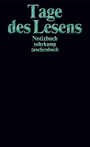 Notizbuch suhrkamp taschenbuch. Tage des Lesens