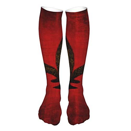 Medieval rojo terciopelo cojín unisex adulto largo deportes socking enfermera médica compresión calcetines calentadores de pierna para adolescentes fútbol viajes correr