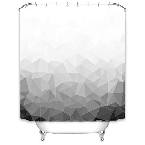 X-Labor Cortina de ducha con mosaico degradado, 240 x 200 cm, impermeable, antimoho, incluye 12 anillas, lavable, 180 x 180 cm, diseño C