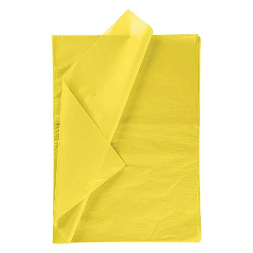 RUSPEPA Geschenkpapier Seidenpapier - Gelb Seidenpapier für Heimarbeit Bastelarbeit Geschenkverpackung – 50 x 70 cm – 25 Blatt