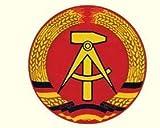 Aufkleber DDR Emblem rund 7cm - Ossi Artikel - für Ostalgiker - DDR Produkte