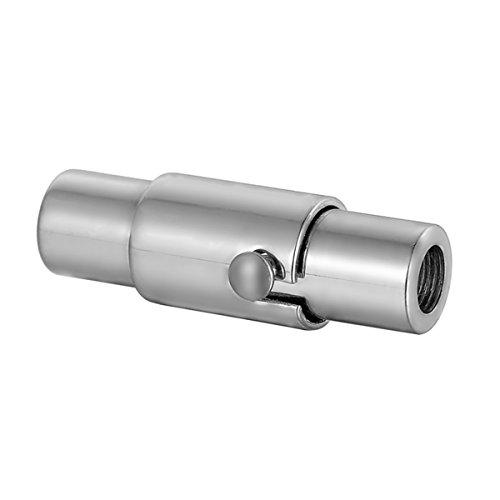 Edelstahl Silber blanko Zylinder Magnetverschluss Jewellery Making Findings, edelstahl, silber, 17mmx5.4mm
