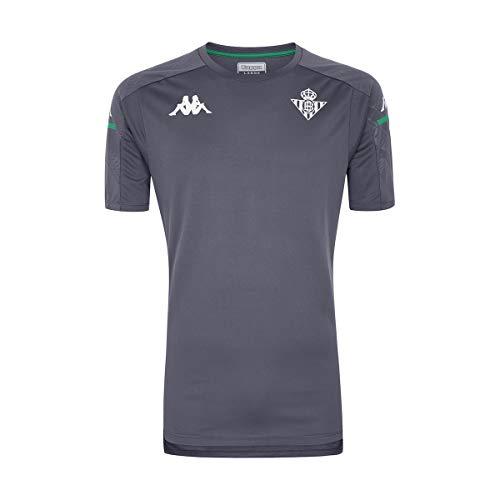 Kappa Aboes Pro 4 Betis Camiseta Entrenamiento, Hombre, Gris/Verde, XL