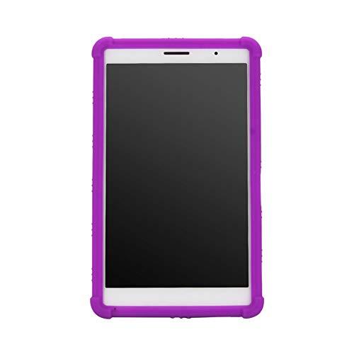 Xingsiyue Silicona Case para MediaPad T3 - Shockproof Resistente Case Funda Protectora Estuche Caso para Huawei MediaPad T3 8.0 Inch KOB-W09 KOB-L09,Purplue