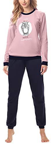 Merry Style Pijama Conjunto Camiseta y Pantalones Ropa de Cama Mujer MS10-167