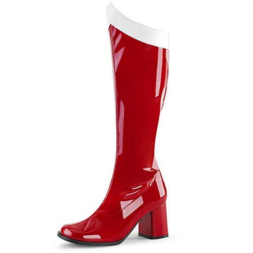 Higher-Heels Funtasma Damen Stretch Kniestiefel Kostüm Gogo-306 rot Gr.39