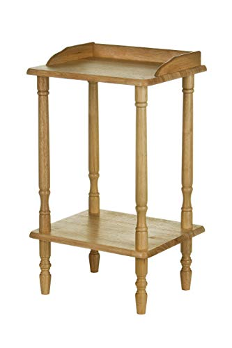Premier Housewares Rubberwood Rectangle Console Table with Shelves Console Table Narrow Vintage Hall Table Telephone Table 62 X 36 X 29 Cm