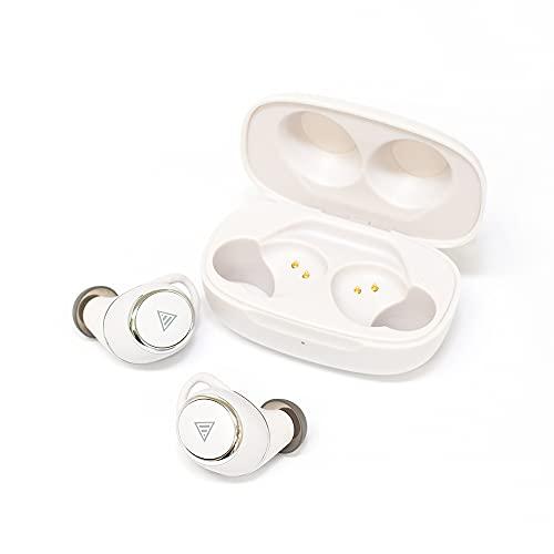 ANIMA ANW01 White [TAKU INOUE監修Bluetooth完全ワイヤレスイヤホン] 専用アプリ対応 システムボイス切替 AAC/aptX対応 防水IPX7相当