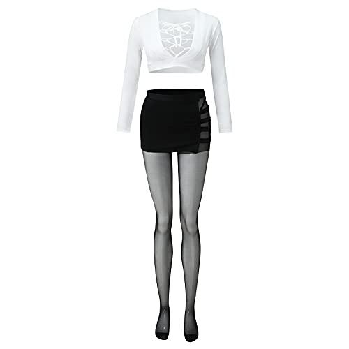 Women's Sexy Nightlife Uniform Role Play Secretary Teacher Uniform Stockings Sexy Underwear Lingerie Plus Size Sexy Babydoll Cosplay Honeymoon Lingerie C176 White