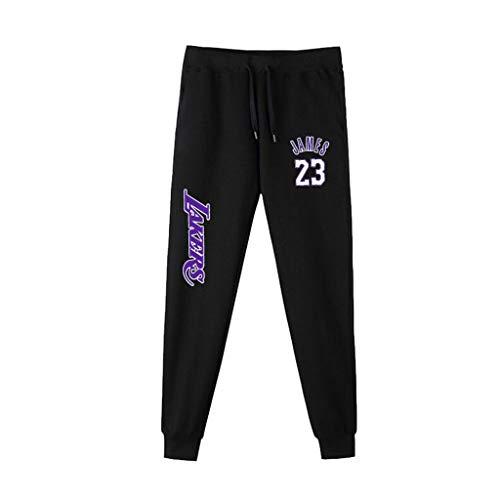 Uomini Pantaloni della Tuta NBA Basketball Formazione Pantaloni Casuale Comodo dei Lakers Kobe Bryant Lebron James Michael Jordan Running Pants Lebron James-L